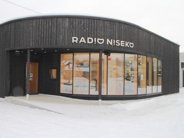 雪の中のラジオニセコ