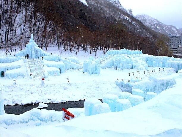 層雲峡温泉氷爆まつり