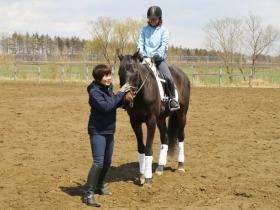 乗馬体験中1