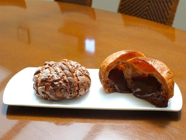 チョコメロンパンと生チョコクロワッサン