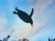 優雅に泳ぐペンギン