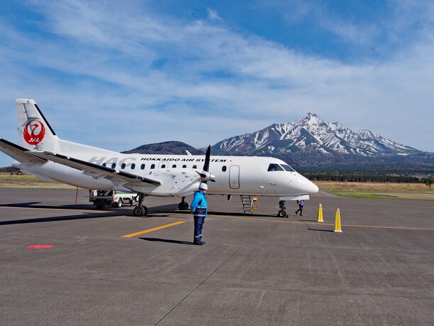 利尻島行き飛行機