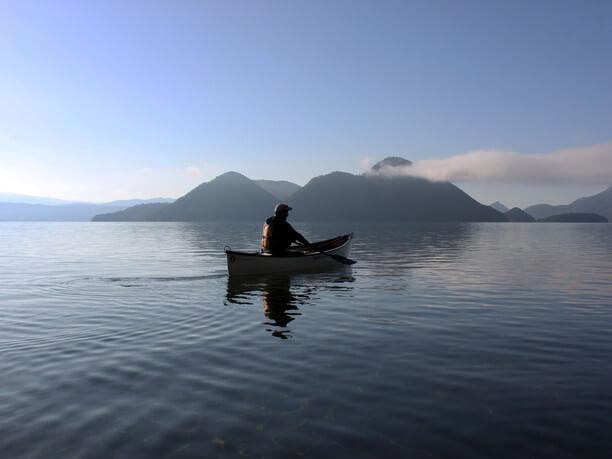 洞爺トイボックスの「モーニングカヌー」体験