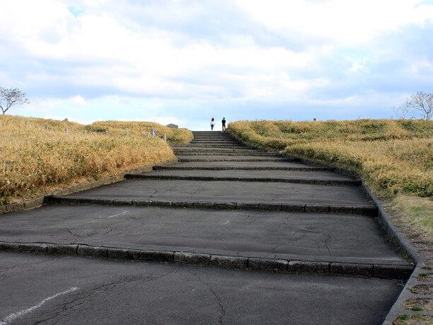 展望台へと続く階段