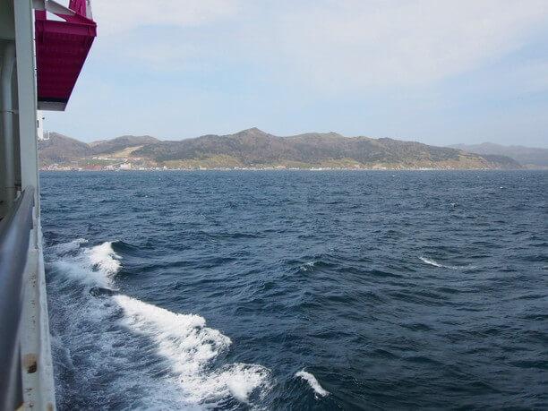 デッキから眺める礼文島