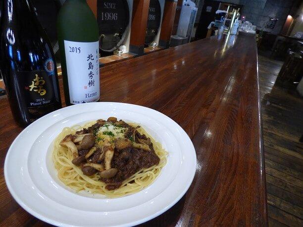 森のきのこと北海道産鹿肉のラグーソース