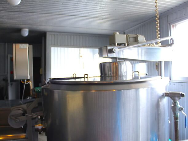 チーズの製造室