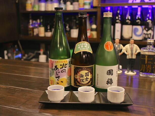 おすすめの「3種類選べる利酒セット」