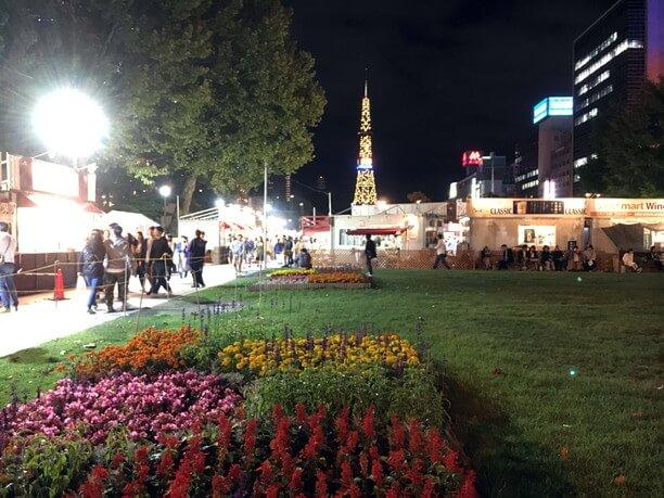 夜の大通公園