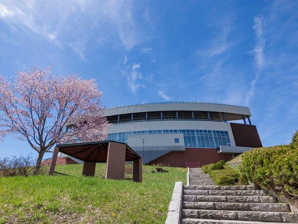 天都山(てんとざん)展望台「オホーツク流氷館」