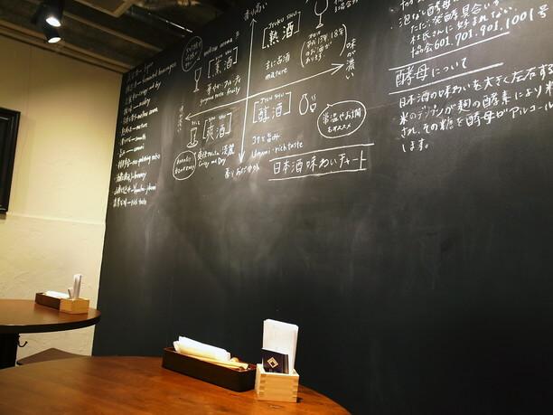 黒板に書かれたお酒のお話