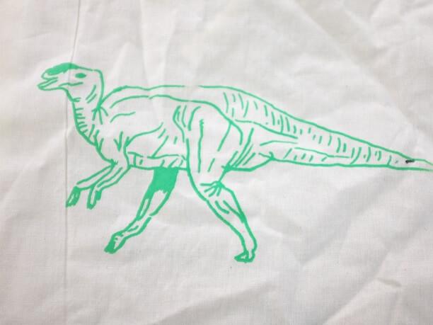 恐竜プリント