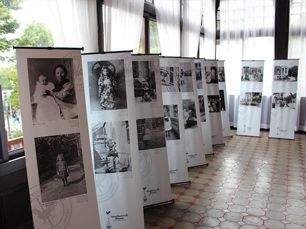 トーマス一家と歴史についての展示