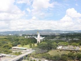 ゴンドラから見た太陽の塔