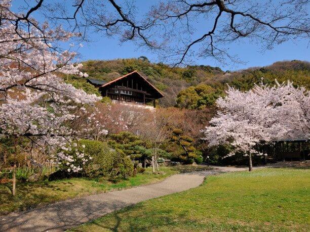 大山崎山荘を取り巻く庭園