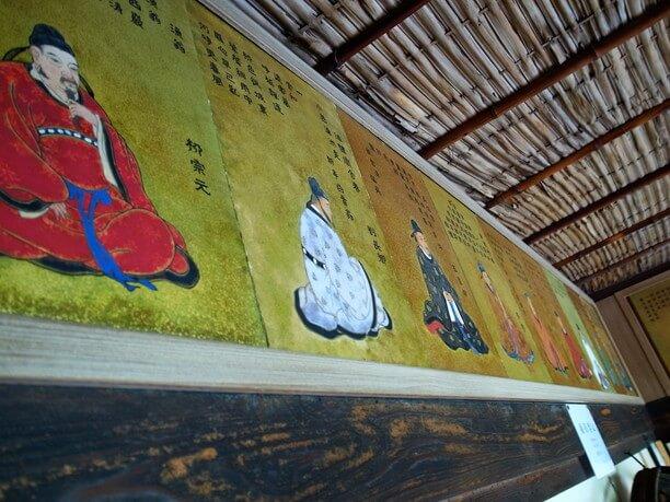 中国の漢晋唐宋の詩家36人の肖像