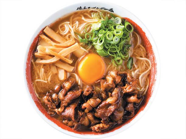 豚骨スープに秘伝の醤油ダレのラーメン