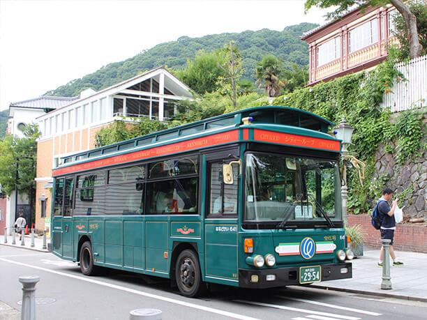 グリーンのレトロバス