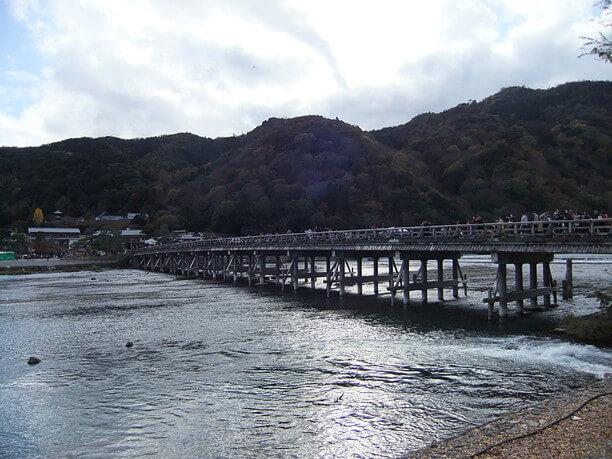 普段の渡月橋