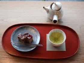 焼き菓子と煎茶のセット
