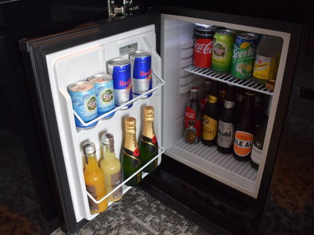 冷蔵庫には地元大阪の箕面ビール