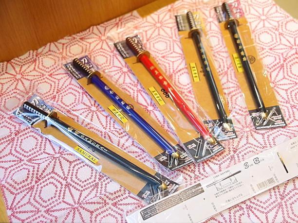 鞘を抜くと鉛筆が出てくる刀鉛筆