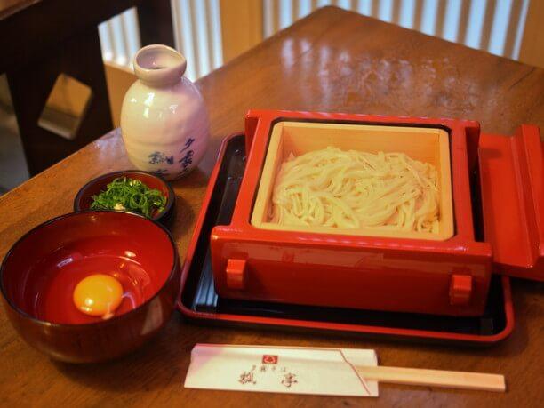 お初天神裏路地の名店「瓢亭」のお蕎麦