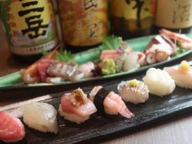 お寿司はシャリが少し小さめの「しゃりこま」