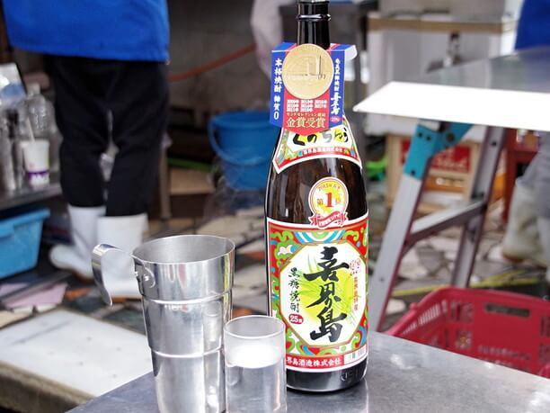 鹿児島県奄美群島の黒糖焼酎喜界島