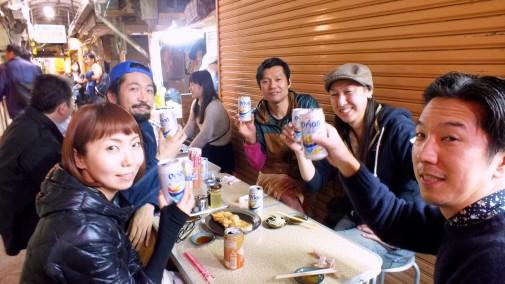 栄町市場乾杯