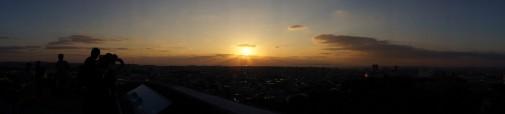 西のアザナからの太陽