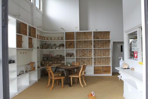 木製のおもちゃ展示場