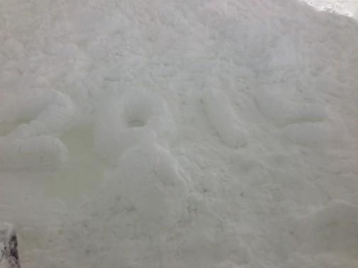 ぬちまーすの山_2015の文字と雪だるま