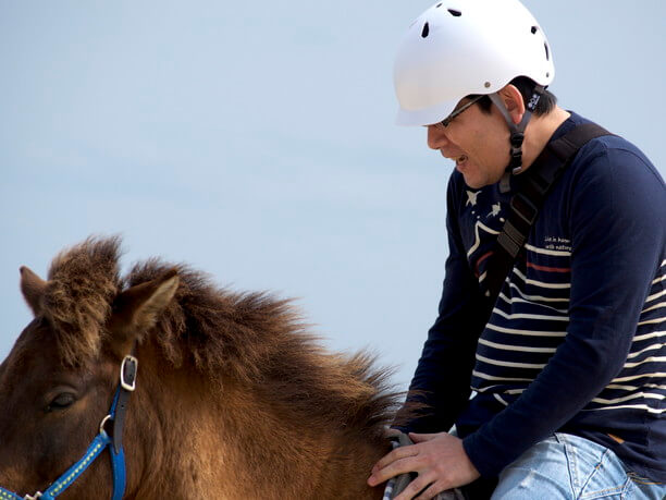 馬との触れ合い