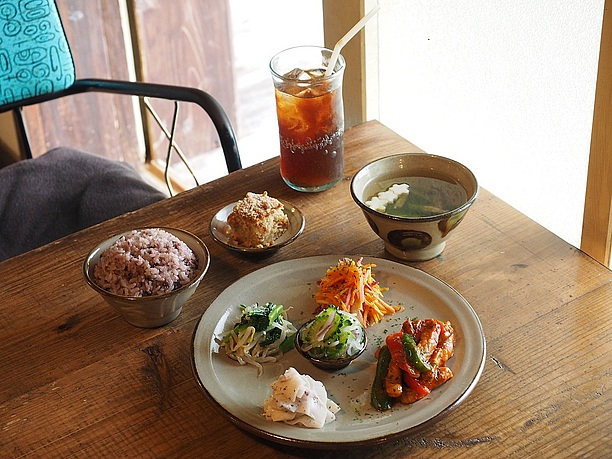 古民家カフェの料理