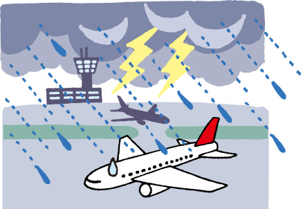 突然の天候悪化は旅行でよくあること