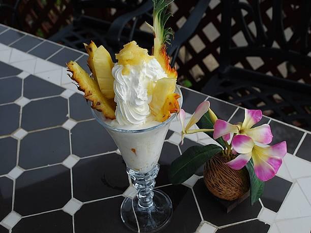 フルーツパパイヤパフェ島バナナサンデー