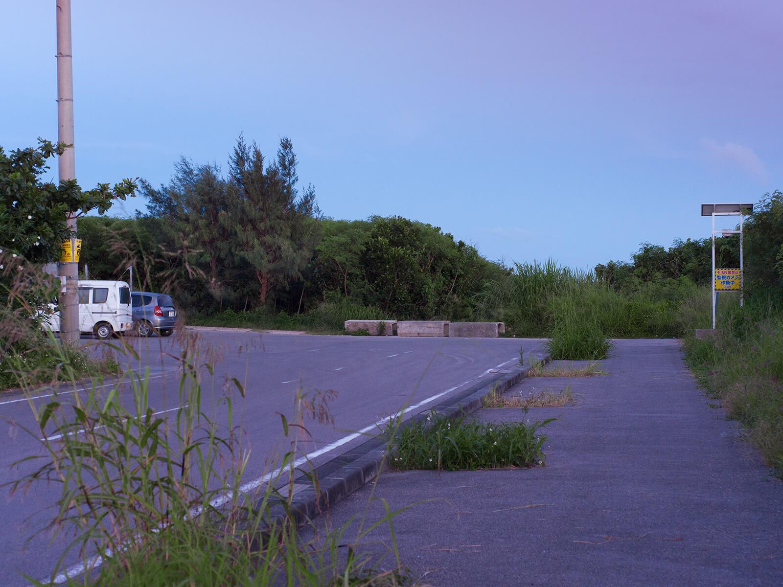 多田浜海岸への道