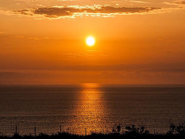 ミルミル本舗からの夕日