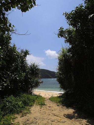 「星砂」も多くちりばめられた浜