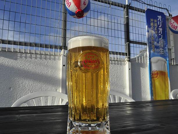 中の町ビアガーデンのビール