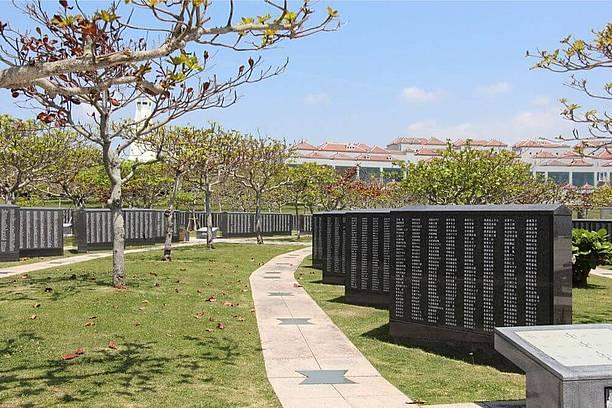 平和記念公園の手入れされた園内