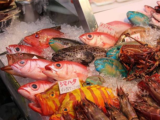 牧志公設市場の鮮魚