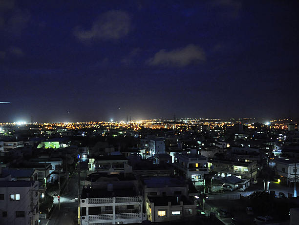 中の町ビアガーデンからの夜景