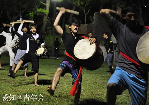 愛知区青年会の練習風景