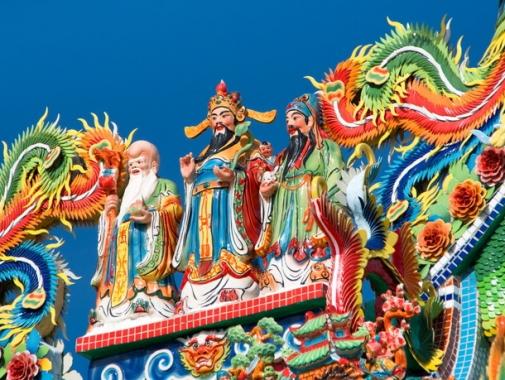 唐人3体の彫刻