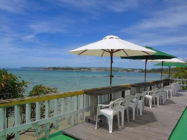 浜辺の茶屋ベランダ席