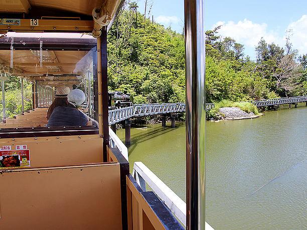 鯉の池では車両を約5分間停車