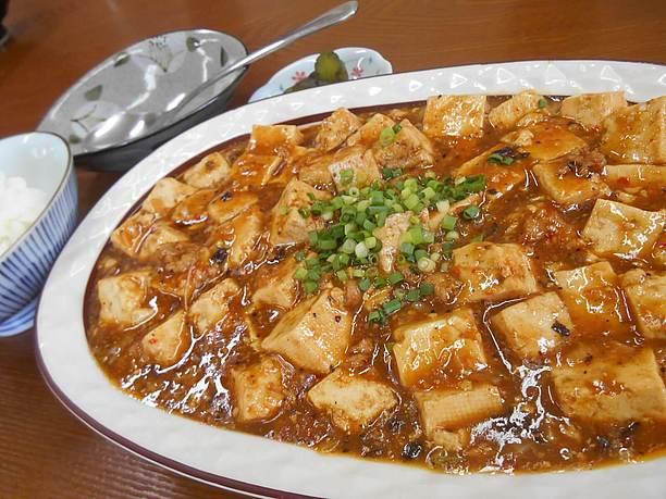 島豆腐を使用した麻婆豆腐