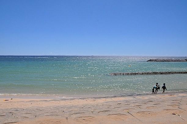ちゅらーゆの目の前のサンセットビーチ